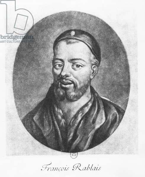 Portrait of François Rabelais (engaving)
