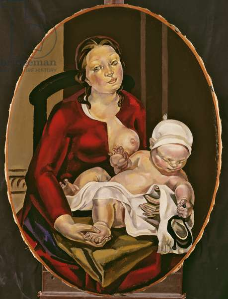 Mother and Child, c.1922 (oil on canvas)