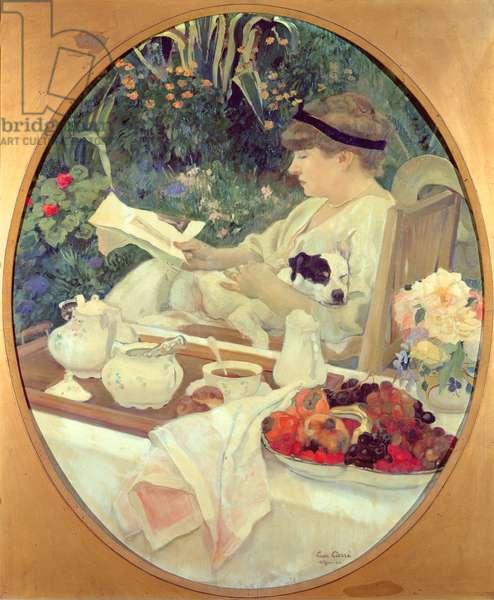 Tea in the Garden, 1910 (oil on canvas)