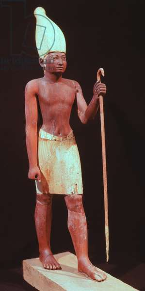 Statue of Sesostris I (ruled 1971-28 BC) with a White Crown (painted cedarwood)