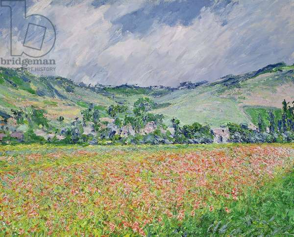 The Poppy Field near Giverny, 1885 (oil on canvas)