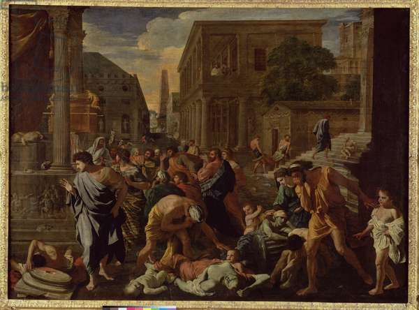 The Plague of Ashdod, or The Philistines Struck by the Plague, 1630-31 (oil on canvas)