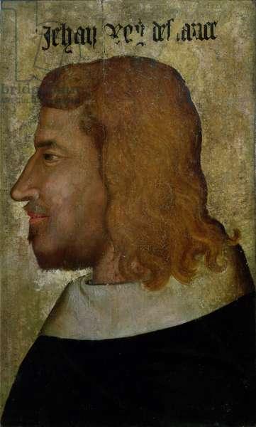 Portrait of John II,'the Good' (1319-64) King of France (oil on panel)