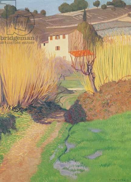 Landscape at Lagnes, 1921 (oil on canvas)