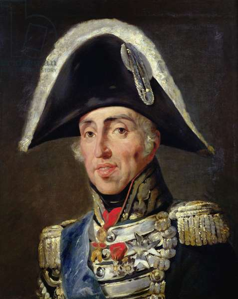 Portrait of Charles X (1757-1836) King of France and Navarre (oil on canvas)