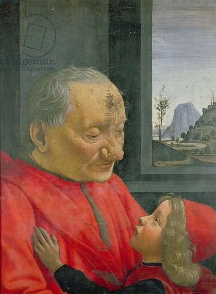 An Old Man and a Boy, c.1490 (oil on panel)