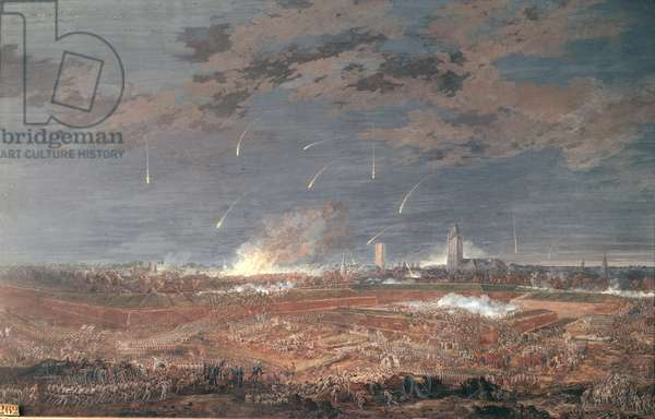 Attack on Berg-Op-Zoom, 4 a.m. 16th September 1746, 1786 (gouache on paper)