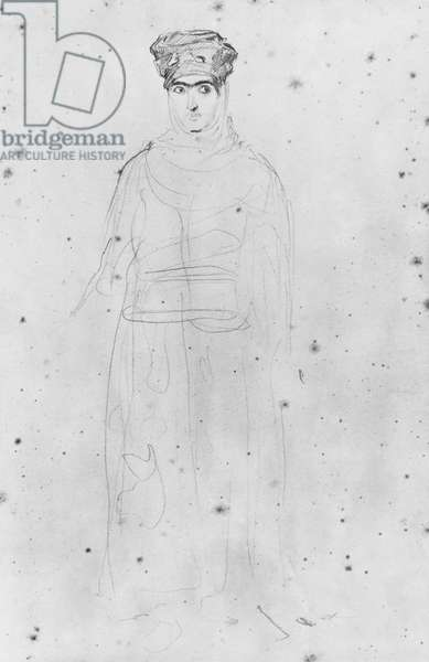 Moorish woman (pencil on paper)
