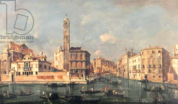 Grand Canal: San Geremia and the Entrance to the Canneregio (oil on canvas)