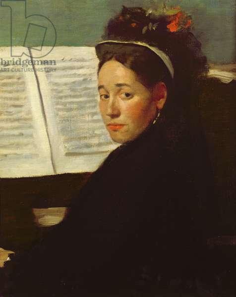 Mademoiselle Marie Dihau (1843-1935) at the piano, c.1869-72 (oil on canvas)