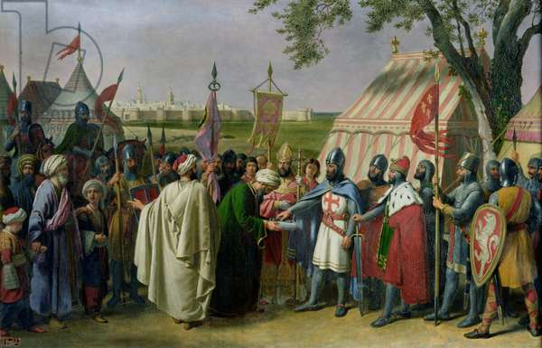 Count of Tripoli accepting the Surrender of the city of Tyre in 1124, 1840 (oil on canvas)