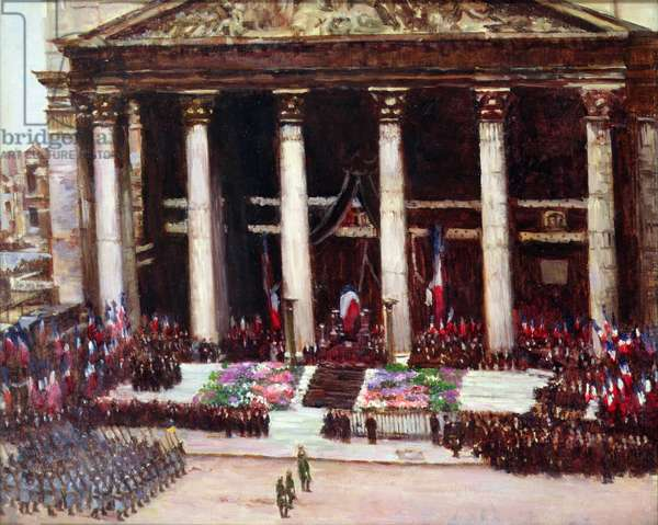 State Funeral of Paul Doumer (1857-1932) 12th May 1932 (oil on canvas)