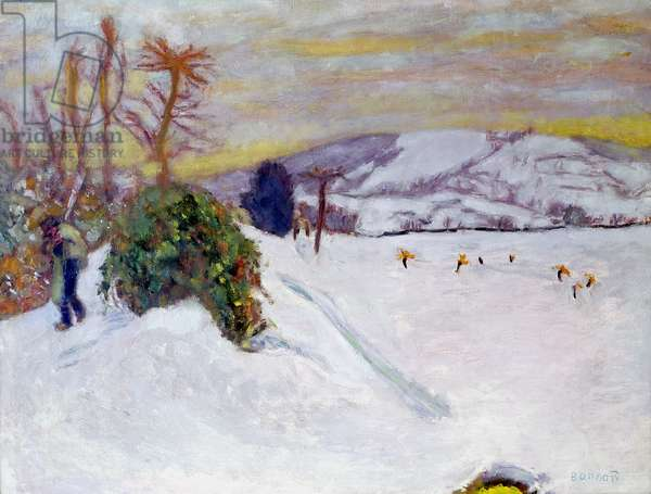 The Snow at Dauphine, 1910 (oil on canvas)