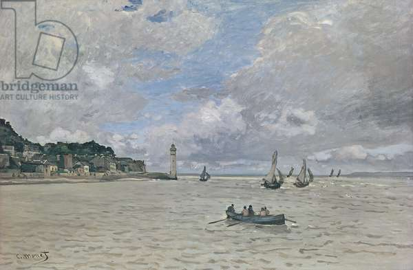The Lighthouse of the Hospice (Honfleur), 1864 (oil on canvas)