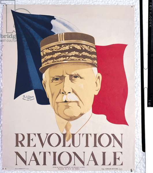 Poster for the Revolution Nationale, 1940 (colour litho)