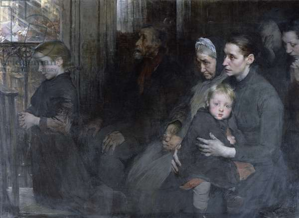Resigned to their Lot, 1901 (oil on canvas)