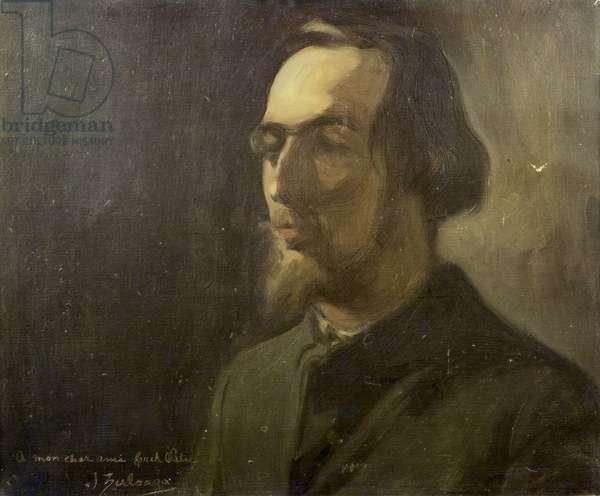 Portrait of Erik Satie (1866-1925) (oil on canvas)