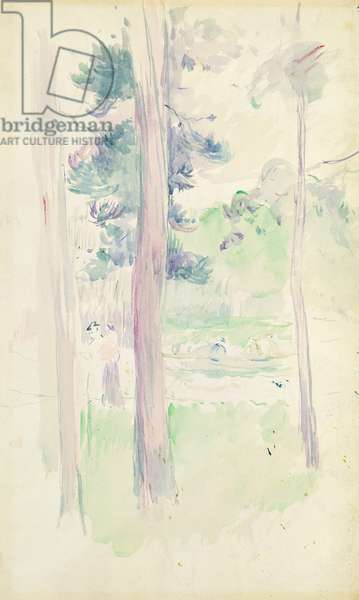 Pines by the lake, 1893 (w/c on paper)