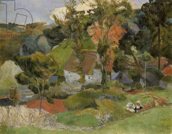 Landscape at Pont Aven, 1888 (oil on canvas)