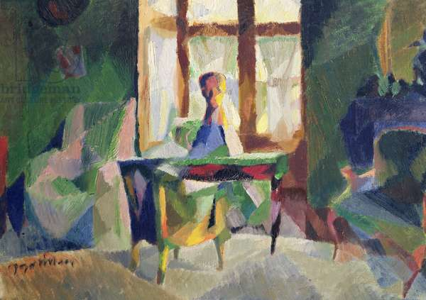 The Bay Window in the Small Salon, 1923 (oil on canvas)