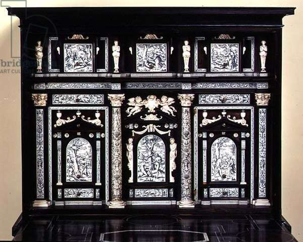 Cabinet decorated with scenes from the Book of Genesis (ebony)