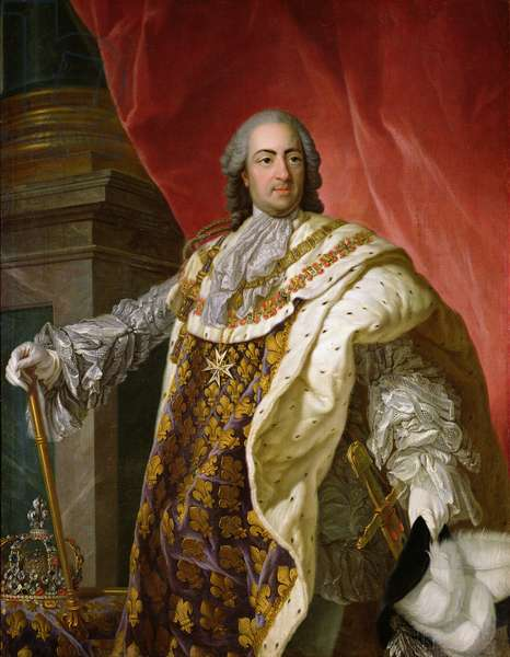 Louis XV (1710-74) (oil on canvas)