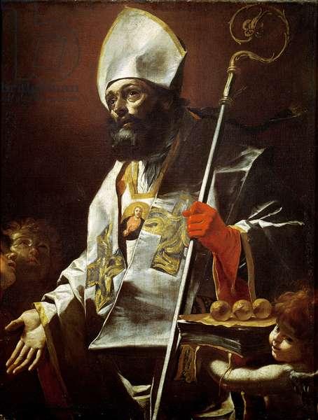 St. Nicholas of Bari (d.c.346) (oil on canvas)