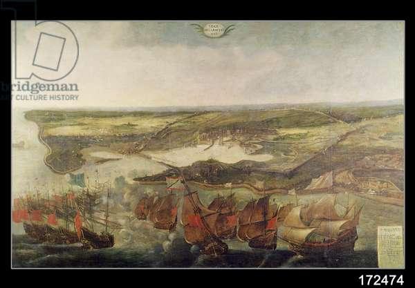 The Siege of La Rochelle in 1628 (oil on canvas)