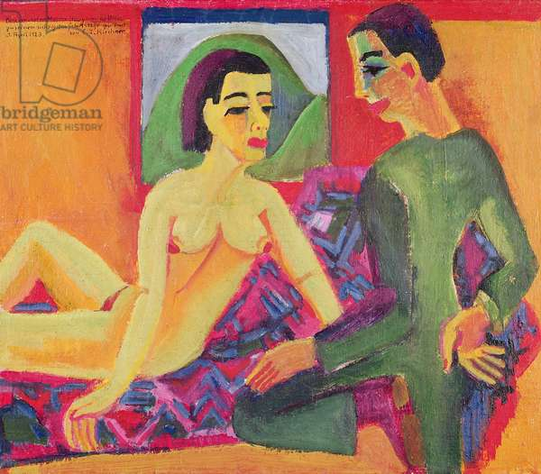 The Couple, 1923 (oil on canvas)