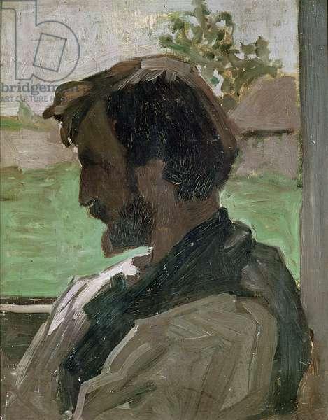 Self Portrait at Saint-Saveur, 1868 (oil on panel)