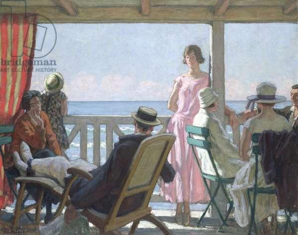 Au Bord de la Manche (oil on canvas)