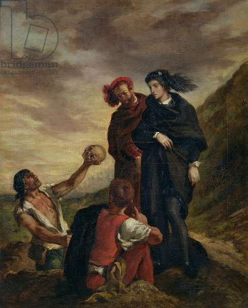 Hamlet and Horatio in the Cemetery, from Scene 1, Act V of 'Hamlet' by William Shakespeare (1564-1616) 1839 (oil on canvas)