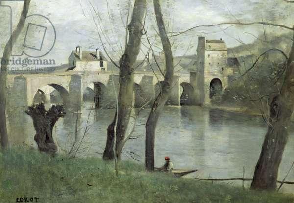 The Bridge at Mantes (oil on canvas)