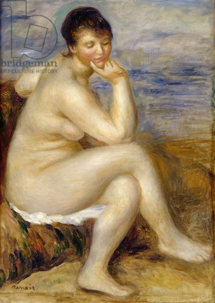 Bather Seated on a Rock, 1882 (oil on canvas)