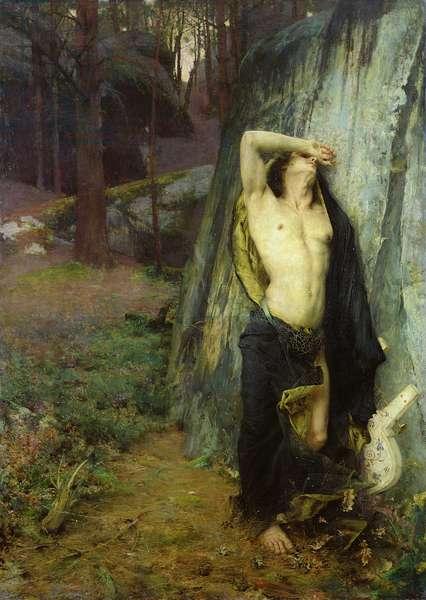 Death of Orpheus (oil on canvas)
