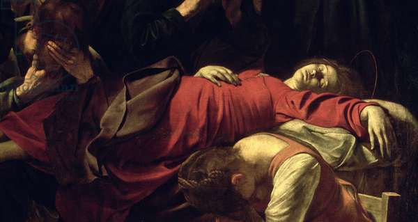 The Death of the Virgin, 1605-06 (oil on canvas) (detail of 3678)
