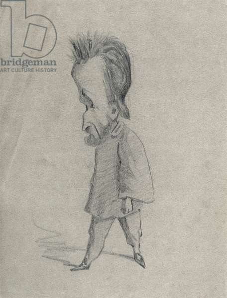 Caricature of the Journalist Theodore Pelloquet, 1858 (charcoal on paper)