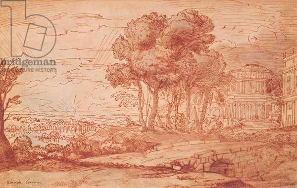 The Temple of Apollo on the island of Delos, c.1648 (pen, wash & bistre ink)