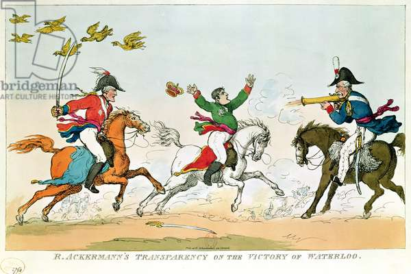 The Battle of Waterloo, 18th June 1815, published by Ackermann, 1815-20 (coloured engraving)