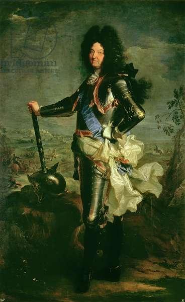 Portrait of Louis XIV (1638-1715) (oil on canvas)