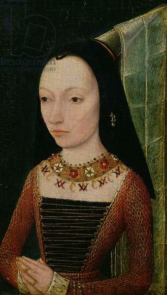 Margaret of York (1446-1503) Duchess of Burgundy, c.1477 (oil on panel)
