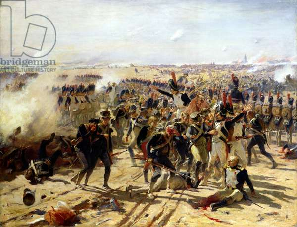 The Battle of Essling, May 1809 (oil on canvas)