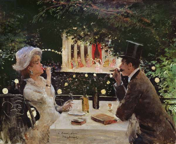 Dinner at Les Ambassadeurs, c.1882 (oil on canvas)