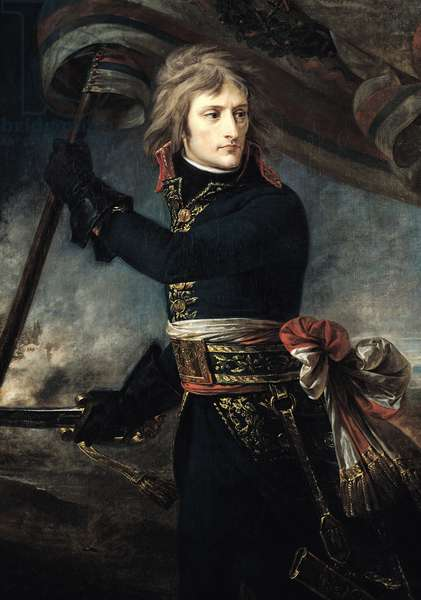 General Bonaparte (1769-1821) on the Bridge at Arcole, 17th November 1796 (oil on canvas)