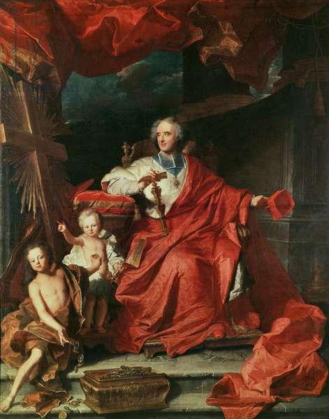 Cardinal de Bouillon (1643-1715) Opening the 'Holy Door', 1708 (oil on canvas)