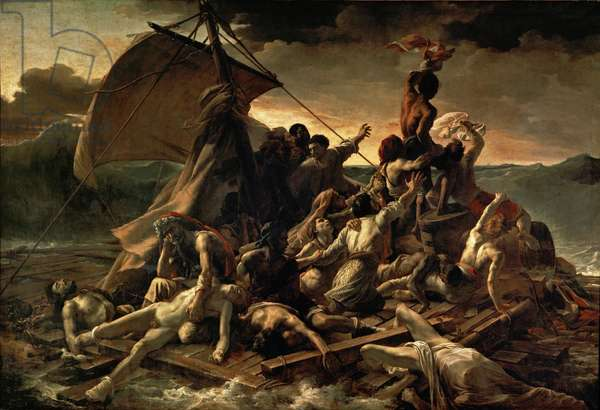 The Raft of the Medusa, 1819 (oil on canvas)