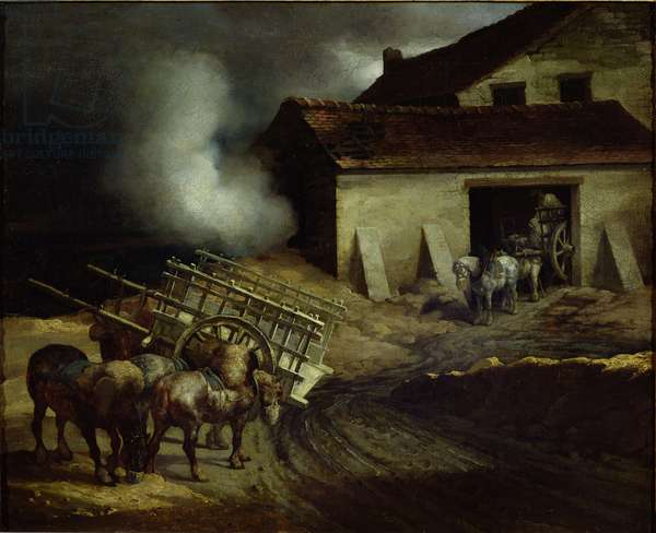 The Kiln at the Plaster Works (oil on canvas)