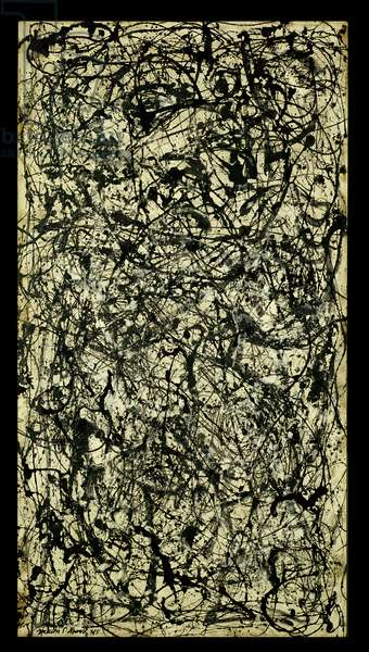 Number 26A: Black and White, 1948 (enamel on canvas)