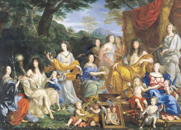 The Family of Louis XIV (1638-1715) 1670 (oil on canvas) (for details see 39054-39055)