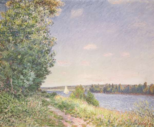Normandy, the water path in the evening, Sahurs, 1894 (oil on canvas)